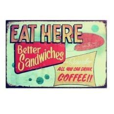 Metal Tin Sign Plaque Wall Art Poster Cafe Bar Pub Plate 63;