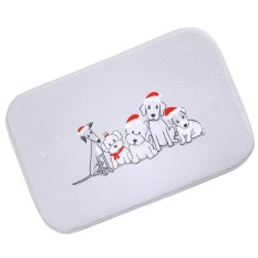 BolehDeals Absorbent Bath Bedroom Floor Door Mat Rug Non Slip Carpet  Cushion Xmas Dog