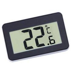 BolehDeals MÀN HÌNH LCD Kỹ Thuật Số Nhiệt Kế Đo Nhiệt Độ w/Nam Châm Móc cho Tủ Lạnh BLK-quốc tế