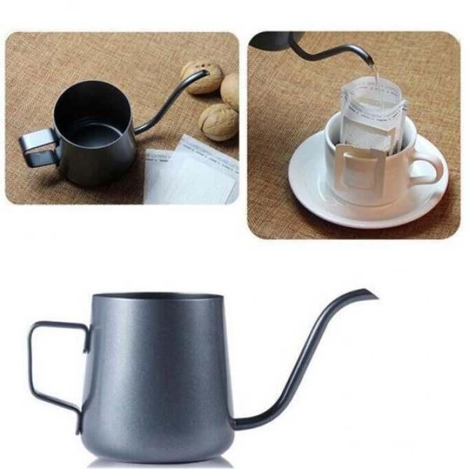 BolehDeals Gooseneck Narrow Spout Hand Drip Coffee Pot Stainless Steel Kettle 350ml - intl