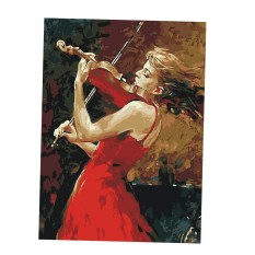 BolehDeals Unframed DIY Painting Paint By Numbers Kit Oil Canvas Picture Violin girl - intl
