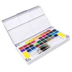 Mua BolehDeals Màu Nước Sơn Bộ 24 Màu Sắc Với Bàn Chải Trong Trường Hợp Tranh Nghệ Thuật Nghệ Sĩ-intl