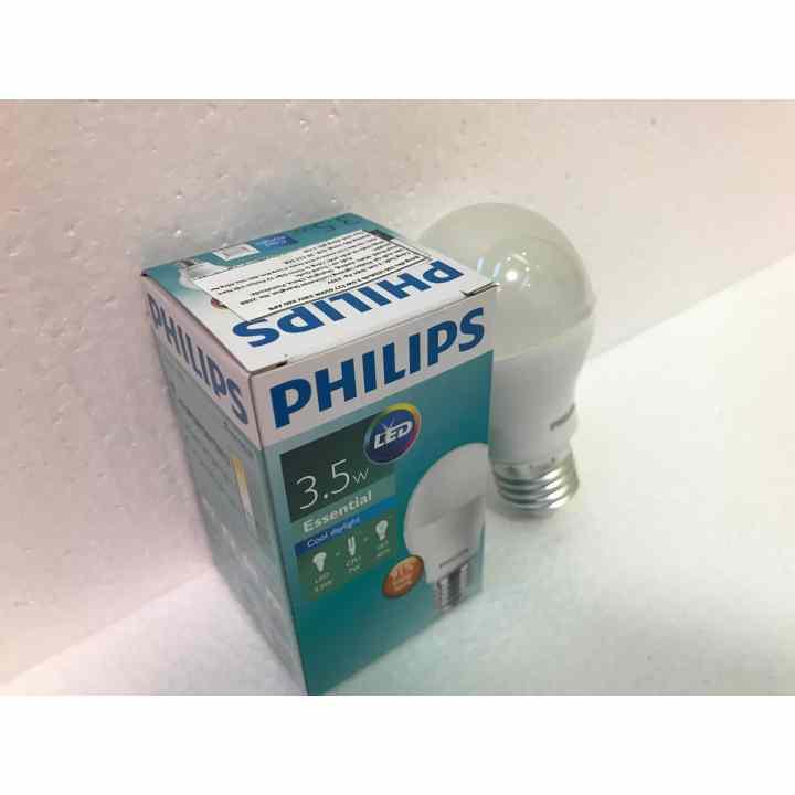 Bóng đèn Philips LED ESS LEDBulb 3,5W đuôi E27 230V P45 ánh sáng (Trắng)