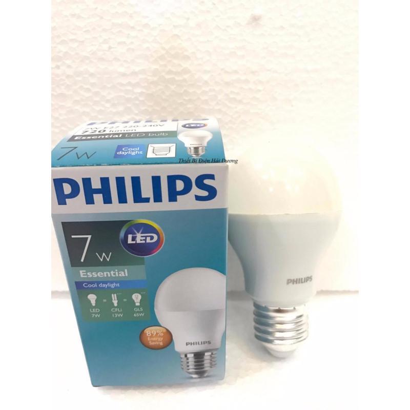 Bóng đèn Philips LED ESS LEDBulb 7W đuôi E27 230V A60 ánh sáng (Trắng,Vàng)