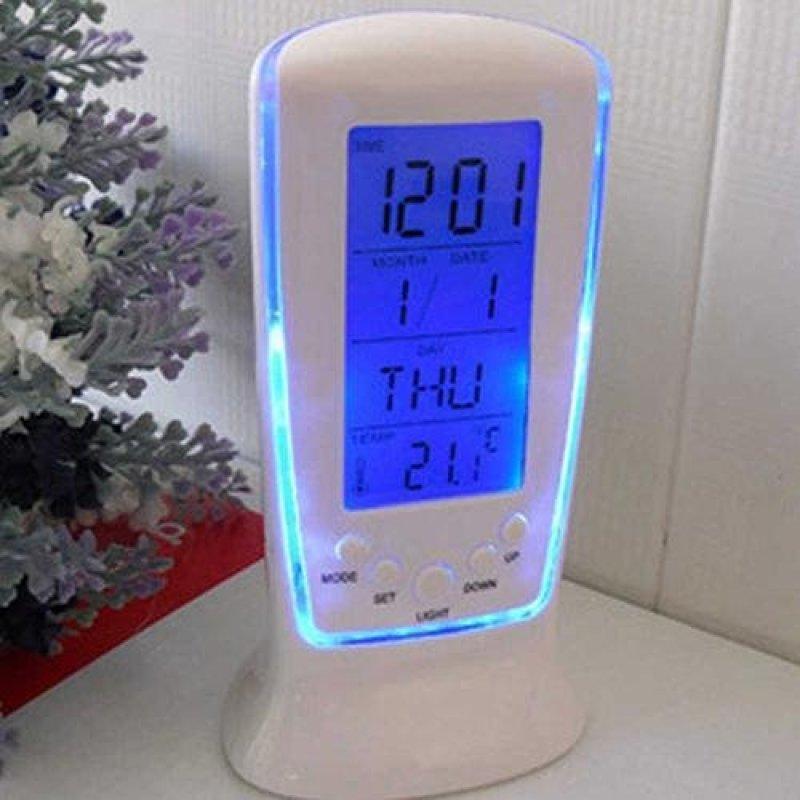 Broadfashion LED Đồng Hồ Báo Thức Kỹ Thuật Số với Đèn Nền Xanh Lịch Điện Tử Nhiệt Kế Quà Tặng-intl bán chạy
