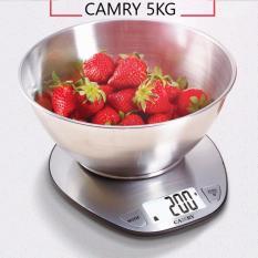 Can Nha Bếp Inox Camry 5Kg Man Hinh Lớn Bạc Camry Chiết Khấu 40