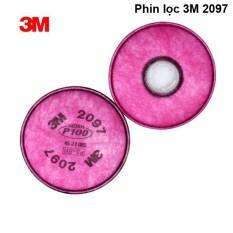 cặp Phin lọc 3M 2097 dùng cho mặt nạ 3M 6100, 3M 6200, 3M 7501, 3M 7502, 3M 6800, 3M 6900