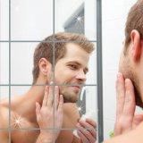 Sàn diễn Mới Xuất Hiện 9 cái Gương Vuông Ốp Dán Tường 3D Decal Khảm Nhà-quốc tế