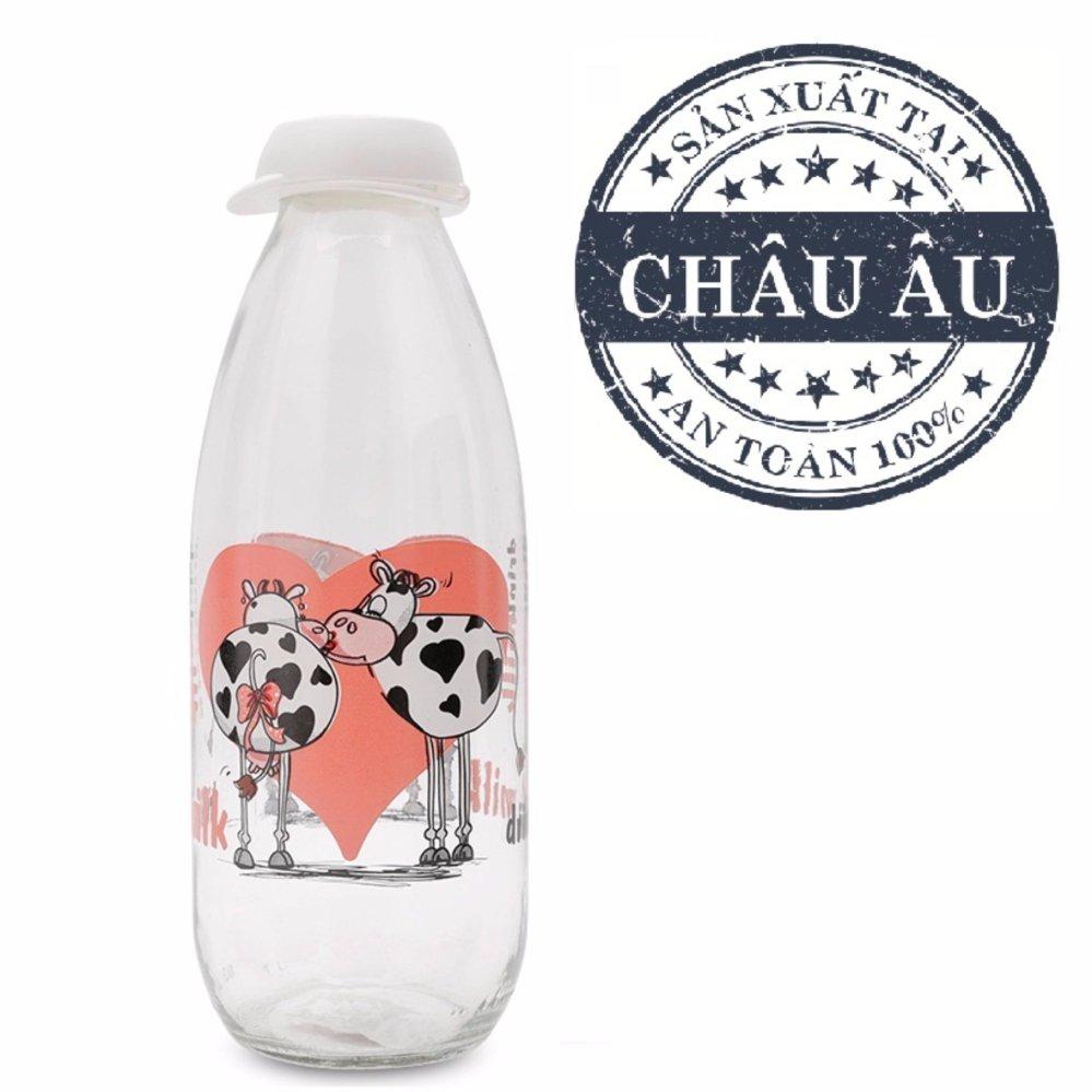 Chai Đựng Sữa Tươi Thủy Tinh 1000Ml Herevin 111705