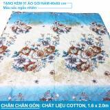 Mua Chăn Chần Gon Vải Cotton Vinatara Xanh 160X200Cm Tặng Kem 1 Ao Gối Mới