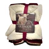 Giá Bán Chăn Long Cừu Ultimate Sherpa Throw Đỏ Booc Đo Nhãn Hiệu Oem