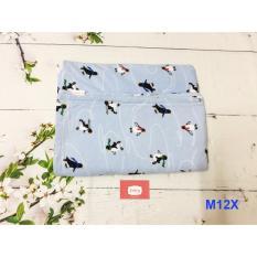 Mua Chăn Nỉ Văn Phong Berry M12X Xanh Nhạt Chim Canh Cụt Mới