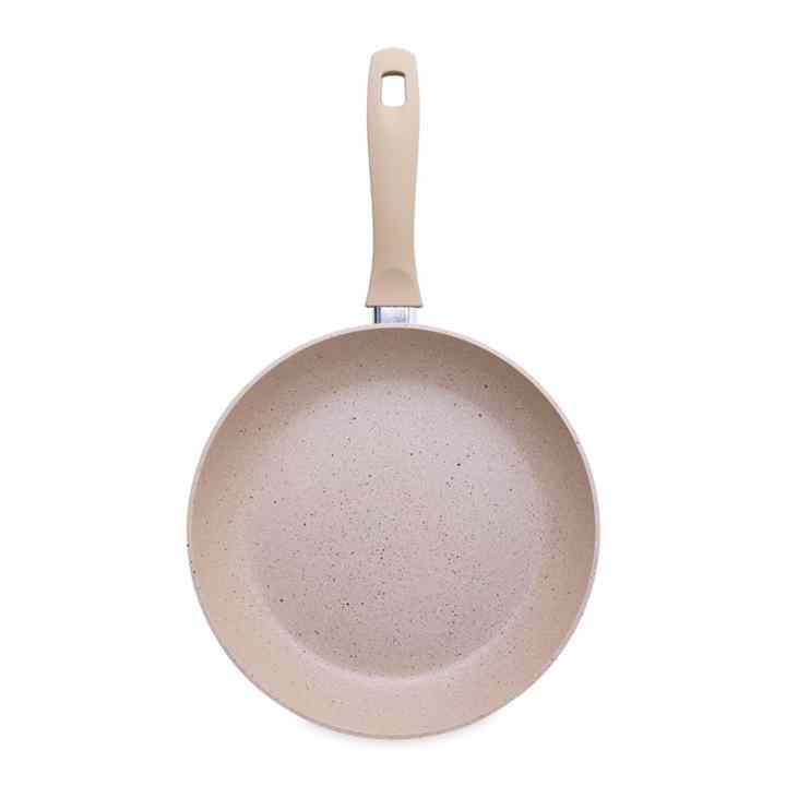 Chảo siêu bền vân đá bếp từ 24cm Charm Happy Cook CHP-24