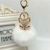 Mã Khuyến Mại Charm Fox Keyring Keychain Pearl Rhinestone Ball Pompom Key Ring Chain Bag Pendant White Intl Oem Mới Nhất