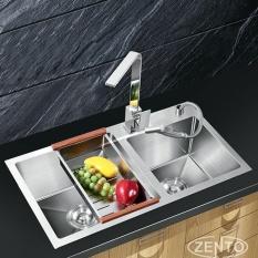 Hình ảnh Chậu Rửa Bát KT 2 Bồn Rửa Cao Cấp Innox 304 ( KT 30401)