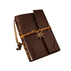 Mua Classic Vintage Style Anchor & Rudder Decorated PU Cover Notebook Travel Diary Sketchbook (Coffee)