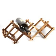 Classical Wooden Wine Rack Bottle Holder Storage Home Bar Ornament Display Shelf For 5 Bottles - Intl By Rubikcube.