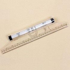 Mua Clear Plastics Metric Parallel Multifunction Drawing Rolling Measurer Ruler - intl