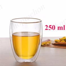 Cửa Hàng Bán Cốc Thủy Tinh 2 Lớp Giữ Nhiệt Uống Sữa Tra Ca Phe Dung Tich 250 Ml