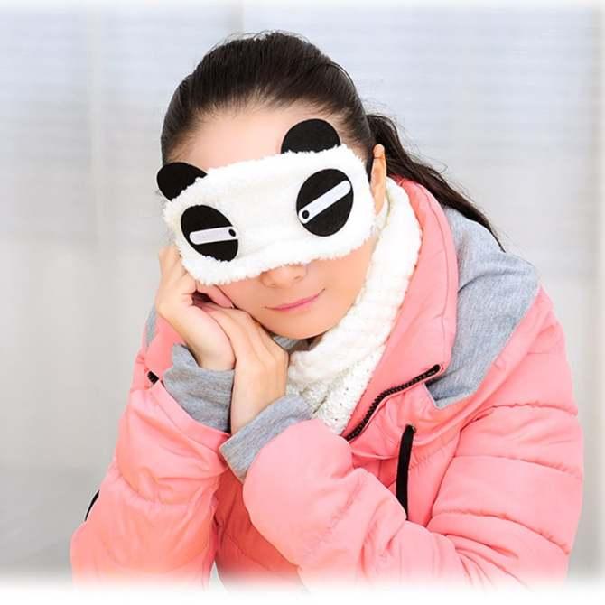 Cocotina Cute Panda Eyepatch Travel Sleep Lightproof Eye Mask Portable Nap Cover – Eyelashes