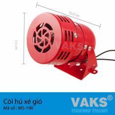 Hình ảnh Còi hụ xé gió nguồn 220V AC - kết hợp thiết bị dùng báo động chống trộm - báo cháy nhà xưởng hiệu quả - MS-190 (đỏ)