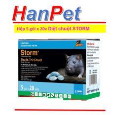 Hình ảnh Combo 1 hộp 5 gói x 20 viên Thuốc Diệt Chuột Storm CHỐNG ĐÔNG MÁU (THUỐC CHUỘT hanpet 413c)