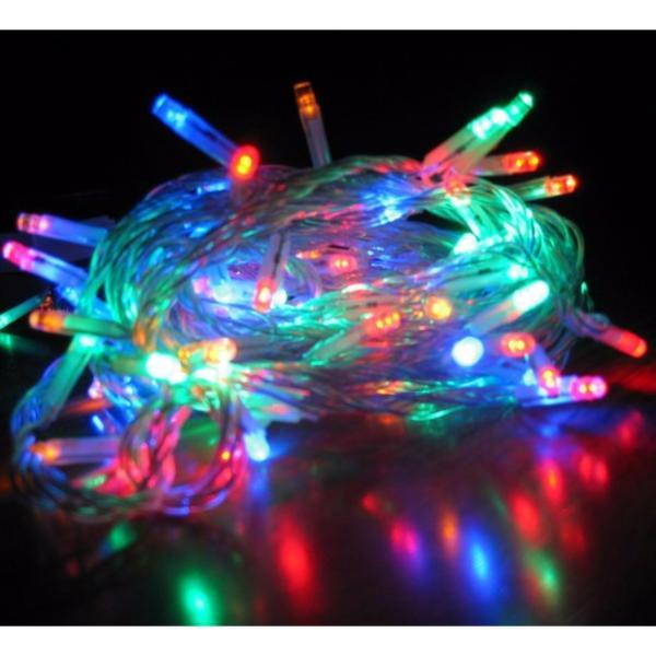 combo 10 bộ đèn chớp Đủ Màu ( dây trong )