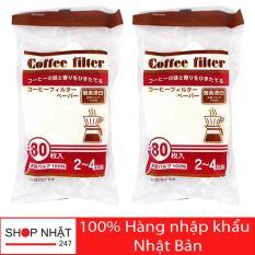 Combo 160 túi giấy lọc trà, cà phê size L Nhật Bản
