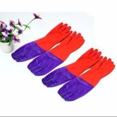 Hình ảnh Combo 2 đôi gang tay cao su lót nỉ cao cấp(Red)