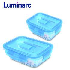 Chiết Khấu Combo 2 Hộp Thực Phẩm Thủy Tinh Luminarc Chữ Nhật Nắp Cai 820Ml 1 22L Luminarc Hồ Chí Minh