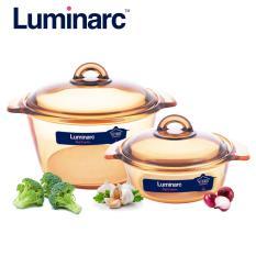 Bán Combo 2 Nồi Thủy Tinh Cao Cấp Luminarc Vitro Blooming Amberline 1L 3L Nb213 Luminarc Trong Hồ Chí Minh