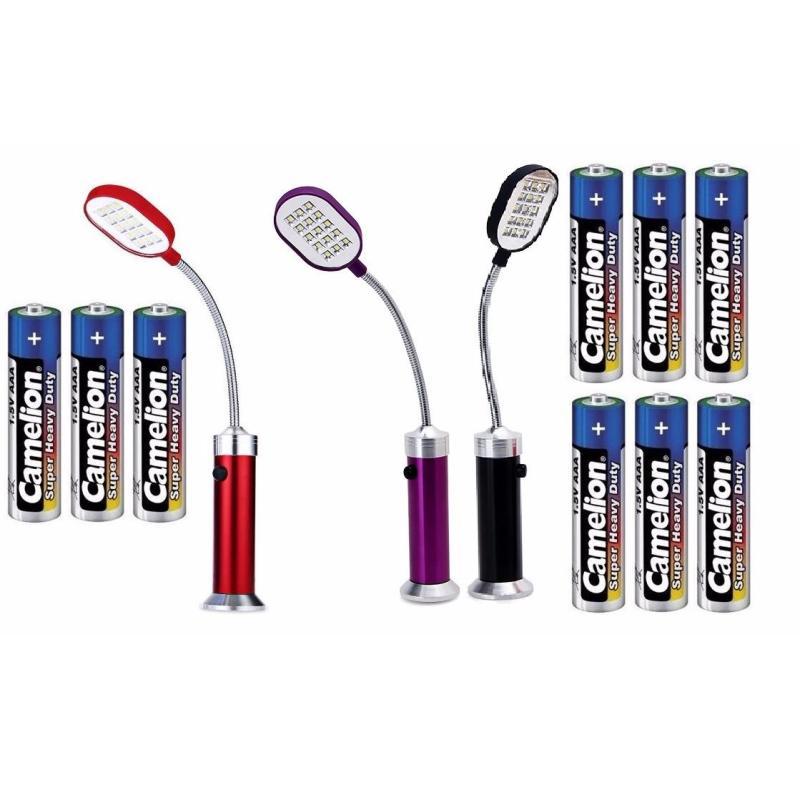 Bảng giá COMBO 3 đèn led 15 bóng có đế hít nam châm siêu sáng và 9 pin AAA
