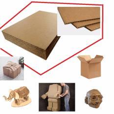 Combo 32 Tấm Giấy Carton (các Tông, Cardboard) 3 Lớp, Dày 3mm (khổ 25cm X 25cm) Làm Mô Hình, đồ Chơi, Thủ Công, Hộp Quà (va124x2) - Luân Air Models By LuÂn Air Models..