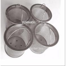 Hình ảnh Combo 4 chiếc cốc lọc rác inox - Phù hợp với chậu Sơn Hà, Tân Mỹ, Tân Á..
