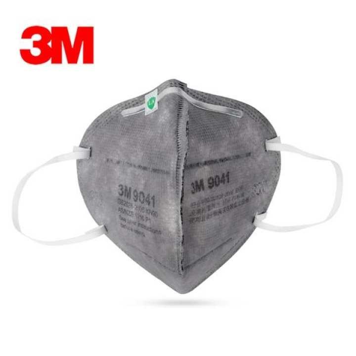 Bộ 5 khẩu trang 3M 9041 Than hoạt tính chống mùi hôi, chống bụi dạng hạt, lọc độc nhe, khói...