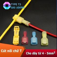 Combo 50 cút nối dây điện chữ T loại to cho dây từ 4 - 5mm2 (T3)
