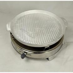 Hình ảnh Combo bếp nướng cồn và chảo gang nướng (chảo trắng)