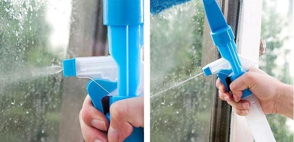 COMBO Bộ 2 COMBO Bộ 2 Cây lau kiếng thông minh kèm bình xịt nước rửa kính - 2