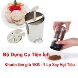 Bán Combo Bộ Khuon Lam Gio Inox Loại 1 Kg Lọ Xay Hạt Tieu Tiện Dụng Có Thương Hiệu Nguyên
