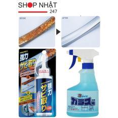 Combo chai tẩy gỉ sét kim loại và chai xịt vệ sinh kính (Xanh) hàng nhập khẩu Nhật Bản
