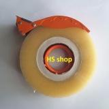 Cửa Hàng Combo Cuộn Băng Dinh Băng Keo Trong Loại 01Kg Va Dụng Cụ Cắt 200 Yard Npp Hs Shop Ninh Bình