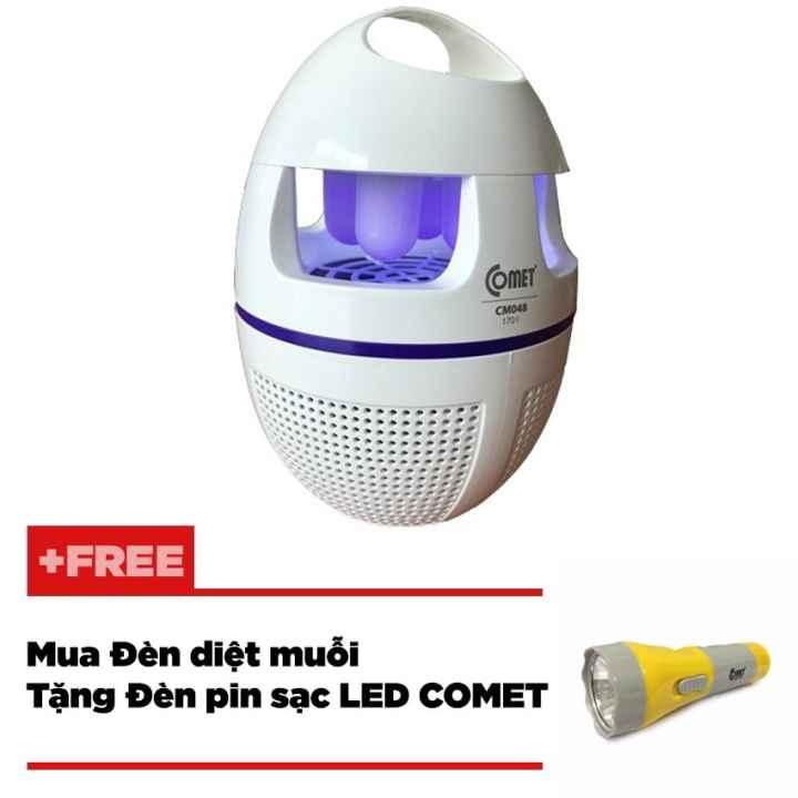 Combo đèn muỗi tặng đèn sạc Comet CM048 + CRT343