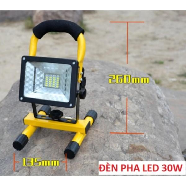 Đèn pha LED đa năng siêu tiết kiệm điện 30W chống nước IP65 (không kèm pin) - Hàng nhập khẩu