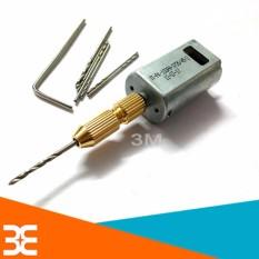 Hình ảnh Combo máy khoan mini 180 5V Siêu Khỏe V1 ( gồm 01 động cơ 180, 01 đầu kẹp 2015, mũi khoan 0.8-1.0-1.2-1.5mm mỗi loại 2 chiếc )