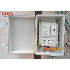 Combo tủ điện trong nhà và ngoài trời LiOA - Loại có 2 công tắc - LVJLCB2C