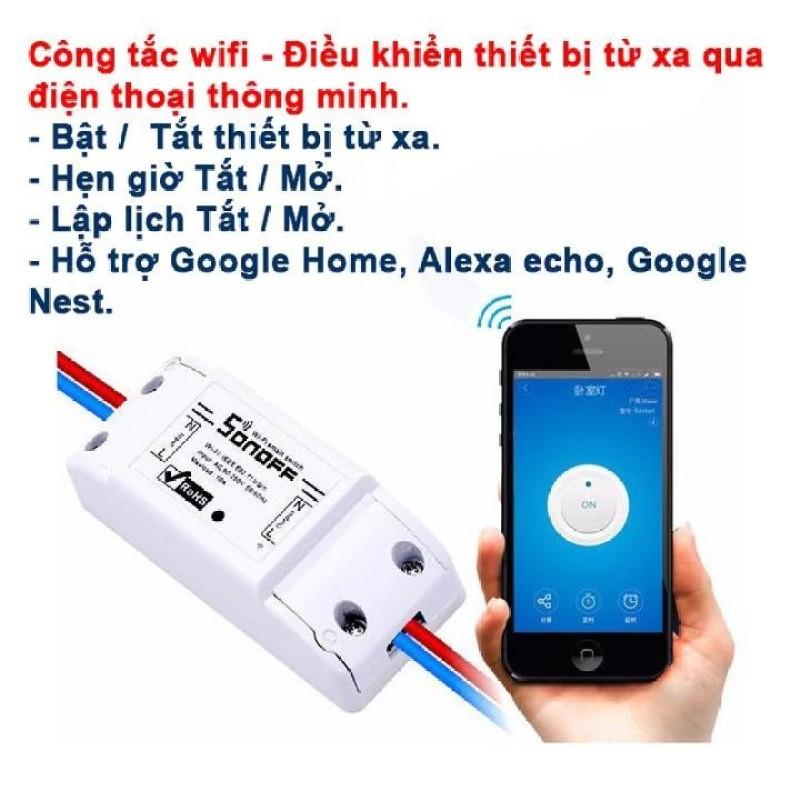 Công tắc điều khiển từ xa qua  wifi ,3G Sonoff Basic