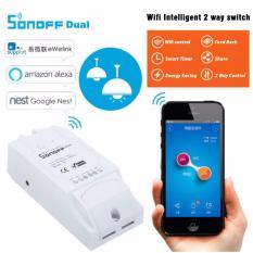 Công tắc thông minh 2 kênh điều khiển qua wifi Sonoff Dual