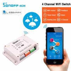 Hình ảnh Công tắc wifi 4 kênh thông minh điều khiển từ xa qua điện thoại SONOFF 4CH