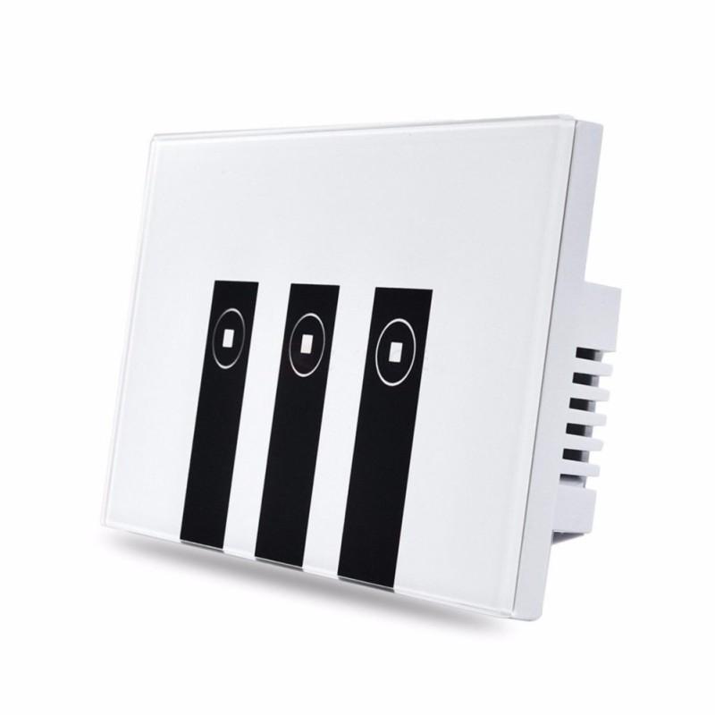 Công tắc wifi kết hợp công tắc màn hình cảm ứng kính cường lực 3 nút (3 Kênh) Phím Piano