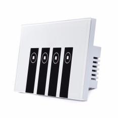 Công tắc wifi kết hợp công tắc màn hình cảm ứng kính cường lực 4 nút (4 Kênh) Phím Piano